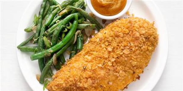 This quick, healthy oven-fried chicken is a real crowd pleaser