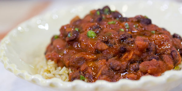 Black and Kidney Bean Chili