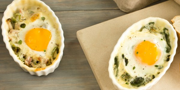 This easy recipe for baked eggs in ramekins will transform your breakfast