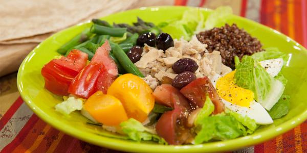 Tuna and Quinoa Salad, Nicoise-Style