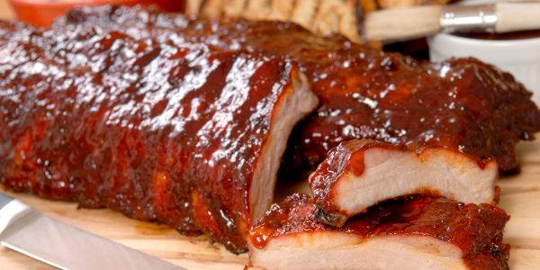 Spicy and Savory Barbecued Pork Ribs with Two Sauces