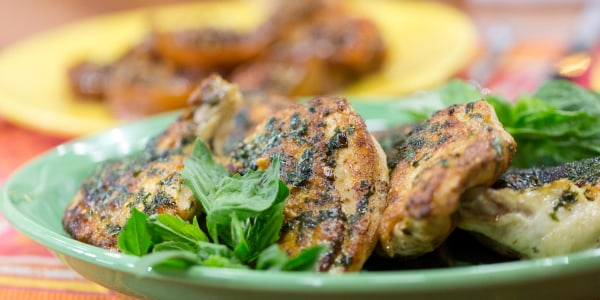 5-Ingredient Chicken Breast with Basil Butter