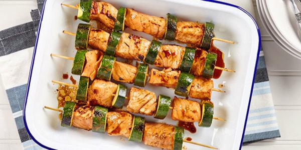 Salmon and Zucchini Skewers