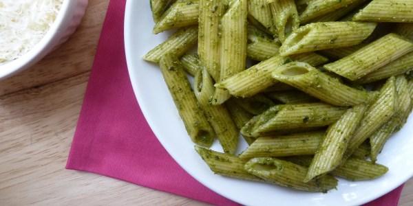 Pasta with Basil-Pistachio Pesto
