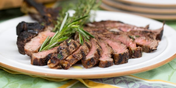 Grilled Steak with Board Dressing