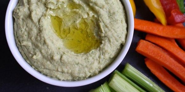 Arugula-Artichoke Hummus
