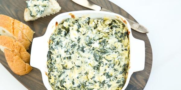 Low-Calorie Spinach Artichoke Dip