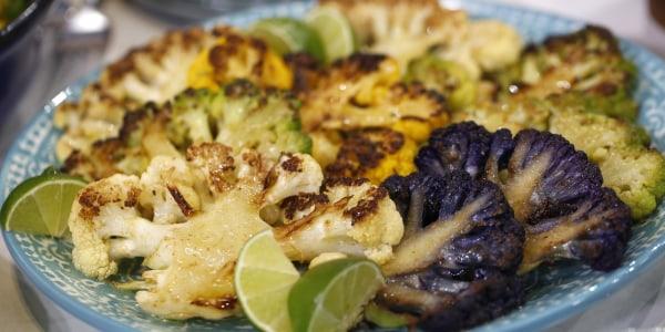 Cauliflower Steaks with Lime Yogurt
