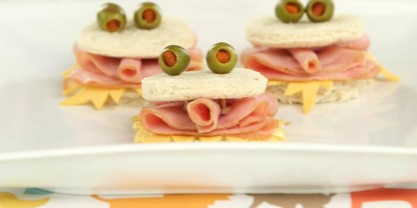 Mini Monster Sandwiches
