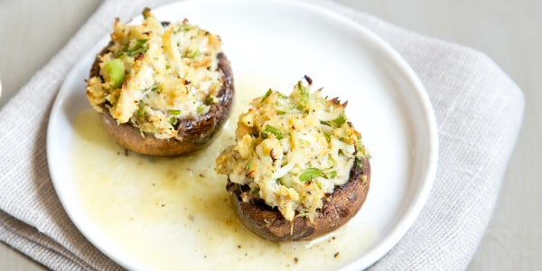 Healthy Crab-Stuffed Mushrooms