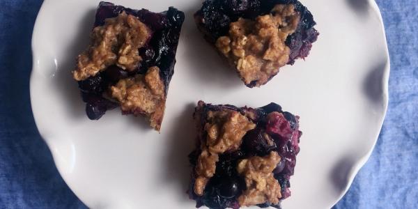Healthy Blueberry Oat Bars