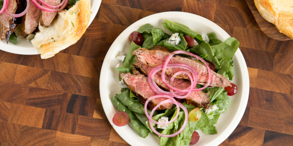 Balsamic-Blue Cheese Steak Salad