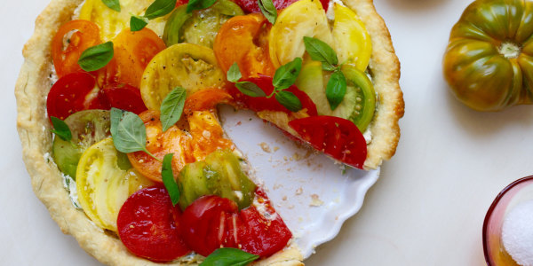 Easy Heirloom Tomato Tart