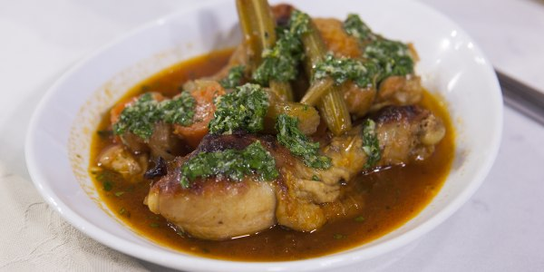 "Chicken Legs ""Osso Buco"" with Gremolata"