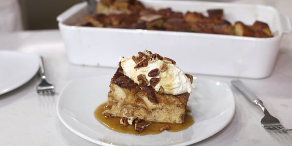 Cinnamon French Toast Casserole with  Whipped Ricotta