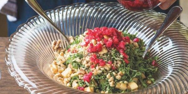 Kale, Apple, Walnut and Sumac Onion Tabbouleh