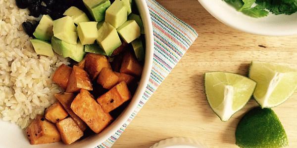Sweet Potato, Black Bean and Avocado Bowls
