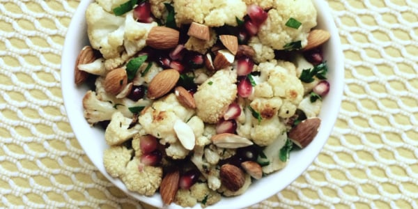 Cumin-Roasted Cauliflower with Lemon, Pomegranate and Parsley