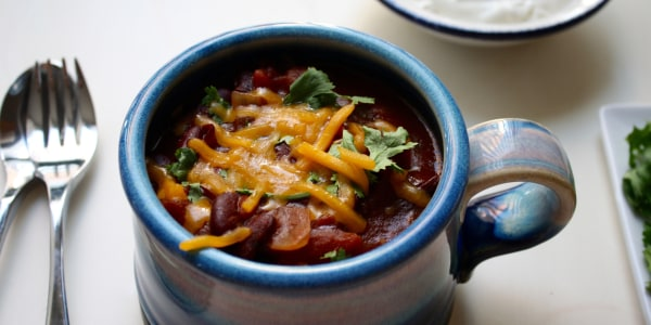 Slow cooker beef and beer chilli