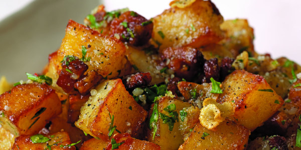 Rosemary Home Fries with Pancetta, Parmesan and Parsley