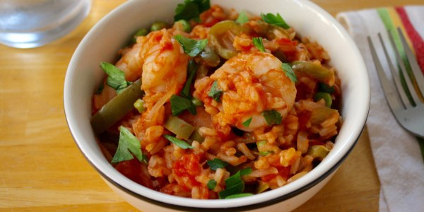 One-Pot Spanish Shrimp and Rice