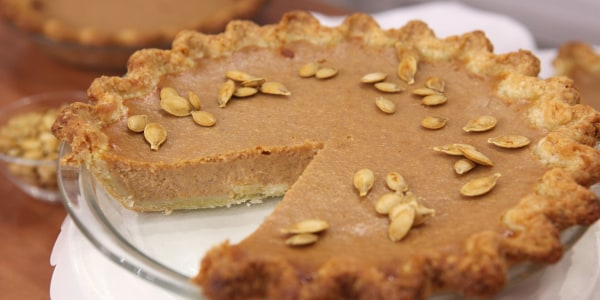 Fresh Pumpkin Pie with Cookie Dough Crust