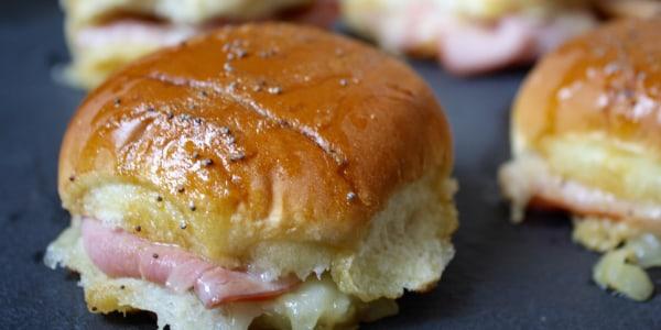 Ham and Cheese Sliders with Honey Mustard