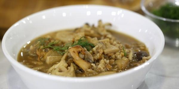 Farro-Mushroom Soup