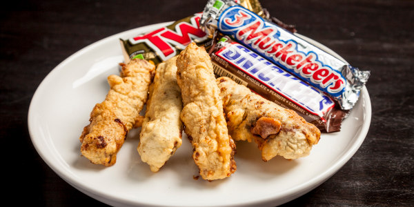 Deep-fried candy bars