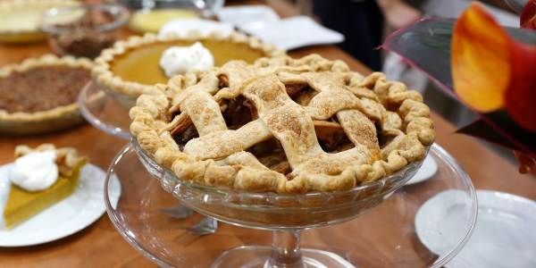 Spiced Apple-Cranberry Lattice Pie