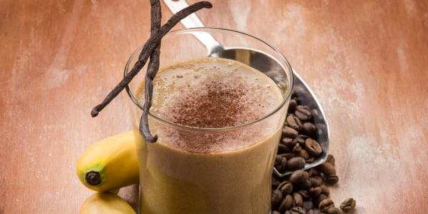 Chocolate Banana Coffee Smoothie with Turmeric