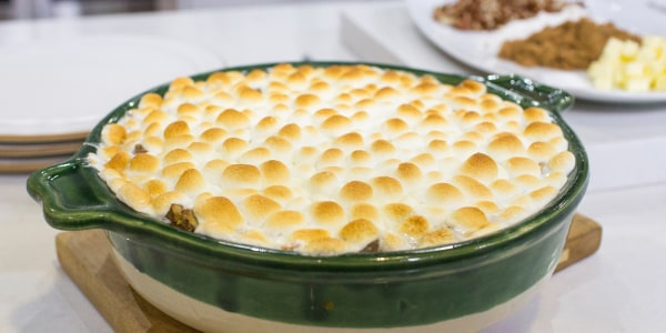 Katie Lee's Sweet Potato Casserole with Mini Marshmallows