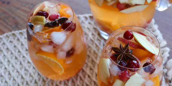 Thanksgiving sangria is the perfect cocktail for a crowd