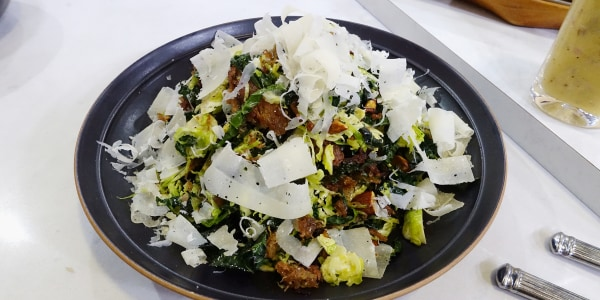 Make a salad with leftover pulled and crisped turkey