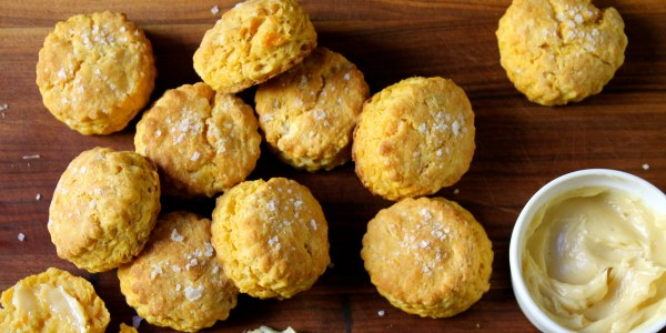 Sweet Potato Biscuits with Salted Maple Butter
