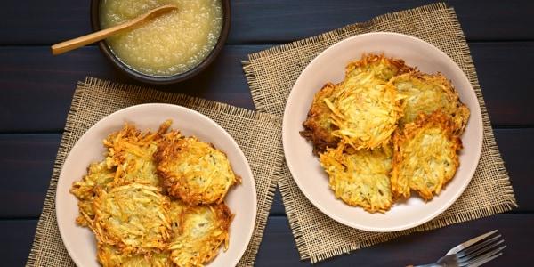 Crispy Hanukkah Potato Pancakes (Latkes)