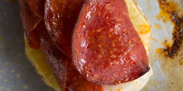 25-Minute Pepperoni-Crusted Fish