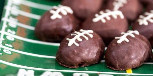 Chocolate Chip Cookie Dough Touchdown Footballs