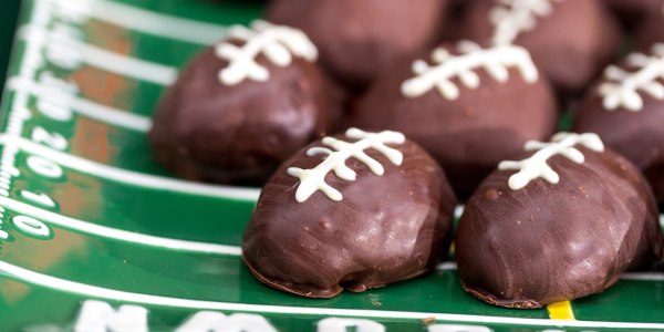 Chocolate Chip Cookie Dough Touchdown Footballs