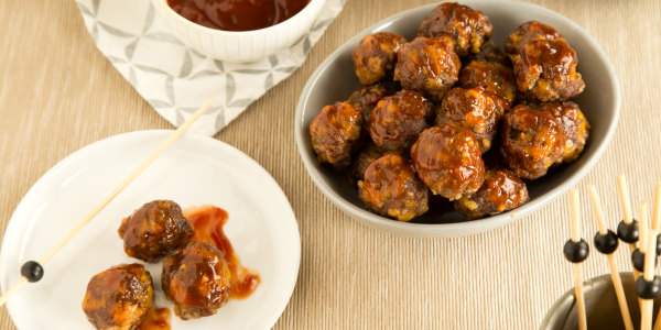 Mini Meatballs with Sweet-and-Sour BBQ Glaze