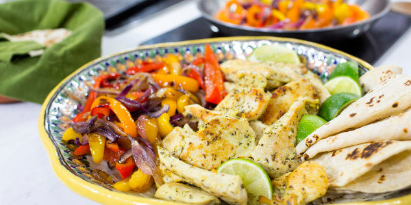 Al Roker's Chicken Fajitas with Yellow Rice and Black Beans