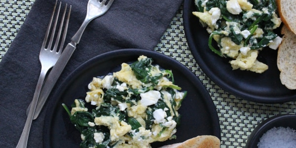3-Ingredient Greek Omelet Scramble