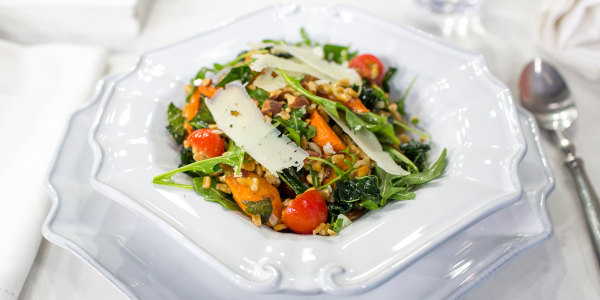 Farro Salad with Roasted Carrots and Greens