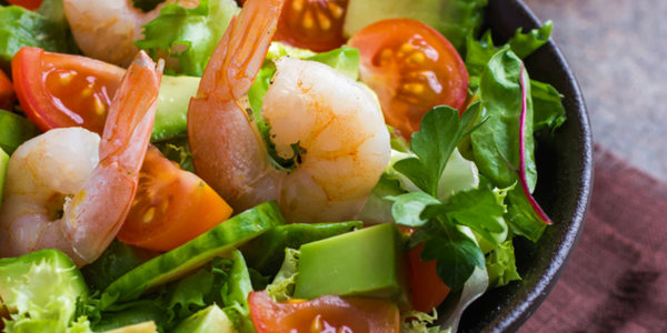 Easy Grilled Shrimp with Herbed Avocado