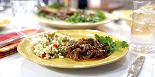 Al Roker's Slow-Cooker Lamb Shank and Couscous
