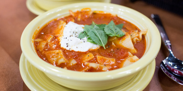 5-Ingredient Lasagna Soup