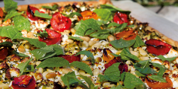 Zucchini and Feta French-Style Pizza