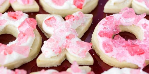 XO Valentine's Day Sugar Cookies