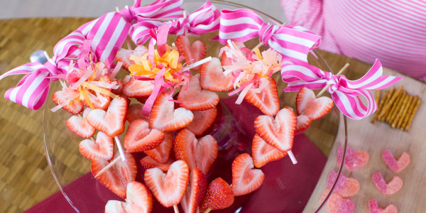 Strawberry Heart Skewers