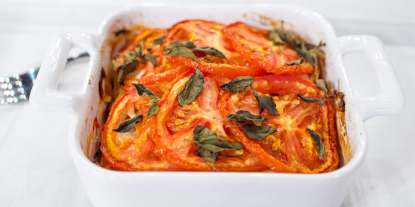 Greek Baked Giant Beans and Tomato Casserole